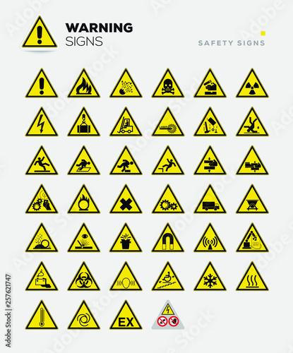 Fotografie, Obraz  simboli pericolo