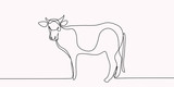 drawing of a continuous line of cattle. - 257622338