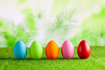 Happy Easter - Colored eggs...