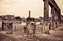 Roman Ruins Of Pompeii Vintage...