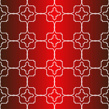 Seamless Modern Pattern. Art-Deco Geometric Background. Graphic Design. Vector Illustration. Idea For Your Presentation. Wallpaper, Page, Advert. Red White Color