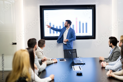 Obraz Picture of business meeting in conference room - fototapety do salonu