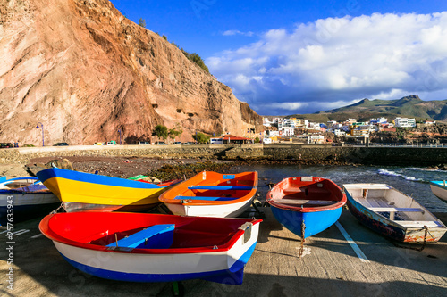 Puerto de Sardina - colorful traditional fishing village in Gran Canaria. Canary islands