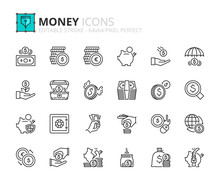 Outline Icons About Money