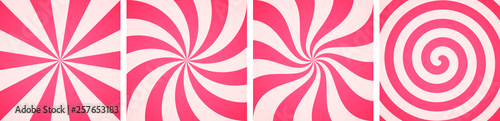 Fotografie, Obraz  Set of sweet candy abstract backgrounds
