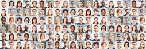 Panorama Portrait Collage von Geschäftsleuten Fototapete