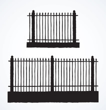 Fence. Vector Drawing