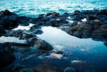 Ocean Waves On Island Coast An...