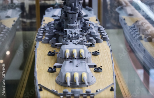 Model ship of the Second World War Fototapet
