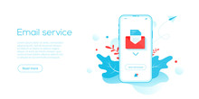 Email Service Creative Flat Ve...