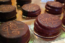 Little Sacher Cake With Chocolate.