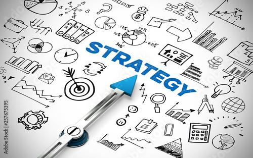 Fototapeta English slogan strategy as a plan obraz