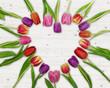 canvas print picture - Tulpen Herz Geschenk Aufmerksam