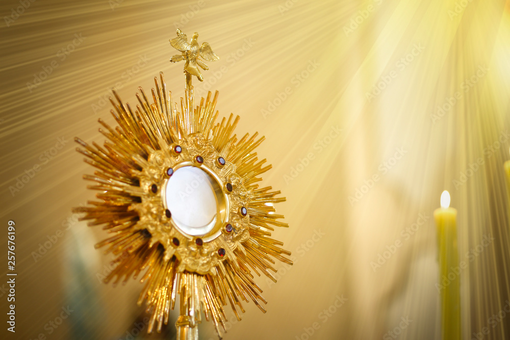 Fototapety, obrazy: Ostensorial adoration in the catholic church - Corpus Christi