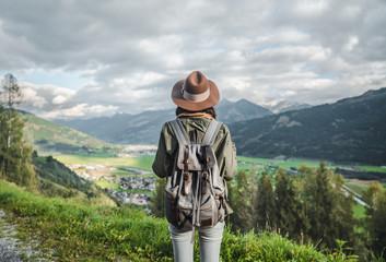 Fototapeta na wymiar Young traveler in Austria