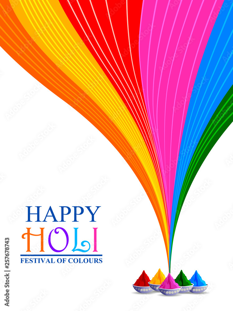 Fototapety, obrazy: easy to edit vector illustration of Colorful Happy Hoil background for festival of colors in India