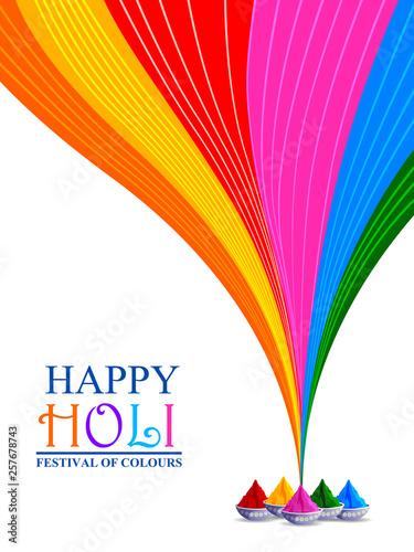 Obraz na plátně  easy to edit vector illustration of Colorful Happy Hoil background for festival
