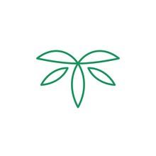 T Letter Leaf Logo Vector Icon Leaves Illustration