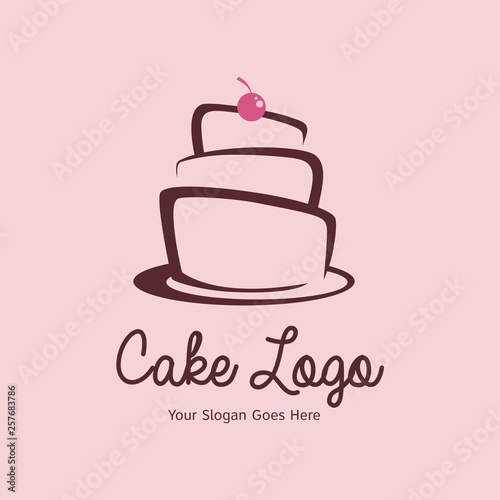 Carta da parati Wedding cake logo design