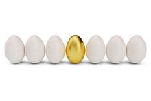 Golden Egg Around White Eggs I...