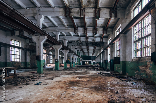 Acrylic Prints Old abandoned buildings Abandoned industrial building interior