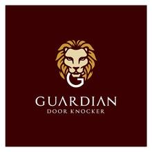 Lion Door Knocker With Initial...
