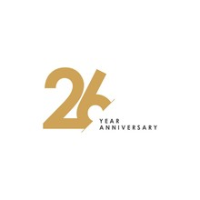 26 Year Anniversary Vector Template Design Illustration