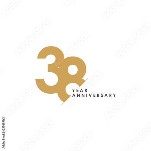 Papel de parede  38 Year Anniversary Vector Template Design Illustration