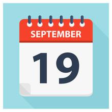 September 19 -  Calendar Icon ...