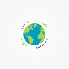 Earth Day Celebrate Vector Design Template