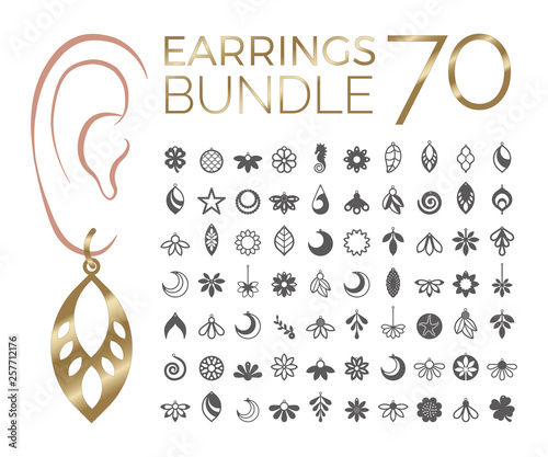 Fotografie, Obraz  70 Bundle earrings