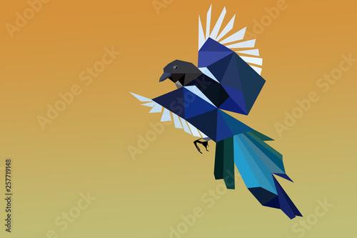 pie en vol en origami Tablou Canvas