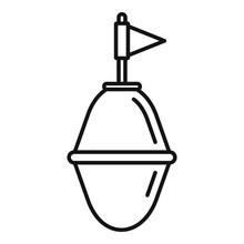 Port Buoy Icon. Outline Port Buoy Vector Icon For Web Design Isolated On White Background