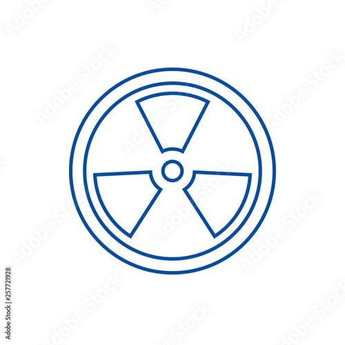 Fotomural Biohazard,dangerous radiation line concept icon