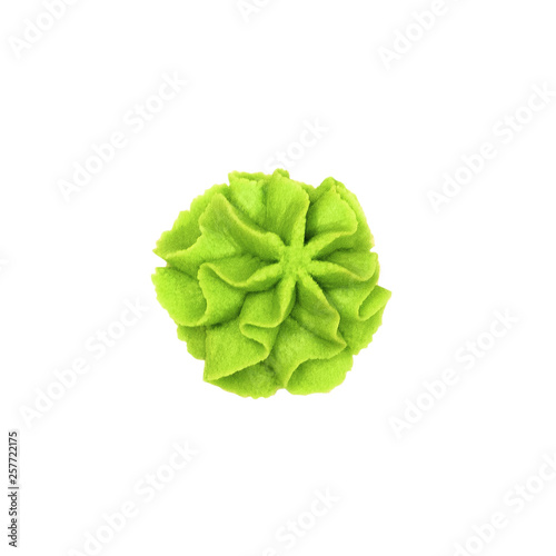 Top view of hot wasabi paste for sushi isolated on white background Wallpaper Mural