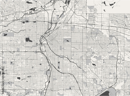 Photo map of the city of Denver, Colorado, USA