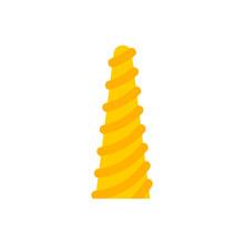Unicorn Horn Isolated. Magic Artifact. Vector Illustration