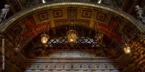 Photo Interior of the Basilica of the Holy Apostles in Rome