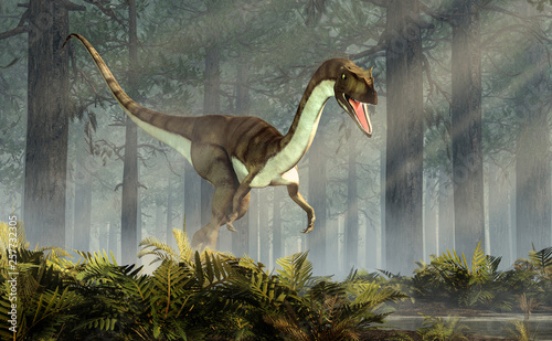 Photo Coelophysis, one of the earliest dinosaurs, was a carnivorous theropod