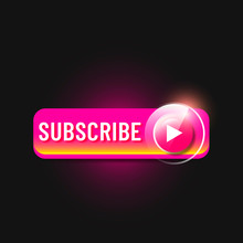 Pink Glossy Subscribe Button