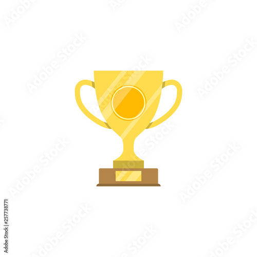 Fototapety, obrazy: Award Cup Flat Vector Icon
