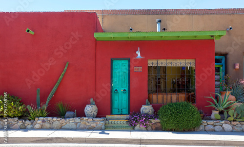 Old Tucson adobe homes. Canvas Print
