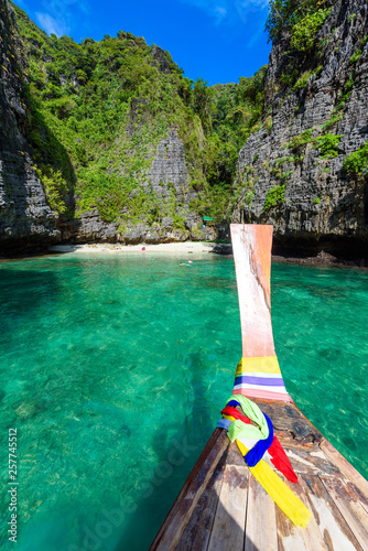 Wang Long Bay with crystal turquoise water, Tropical island Koh Phi Phi Don, Kra Wallpaper Mural