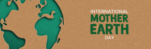 Earth Day Web Banner Of Paper ...