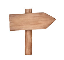 Small Rustic Wooden Arrow Sign...