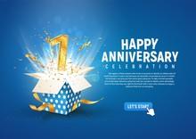 1 St Year Anniversary Banner W...