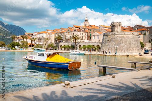 In de dag Mediterraans Europa Town of Korcula, Dalmatia, Croatia