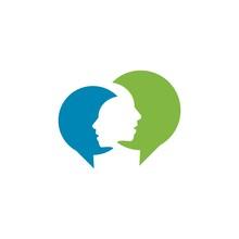 Chat Talk Communication Logo Vector Graphic