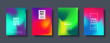 Colorful Modern Abstract Background With Neon Red, Green, Blue, Purple, Yellow And Pink Gradient. Dynamic Color Flow Poster, Banner. Vector Illustration.