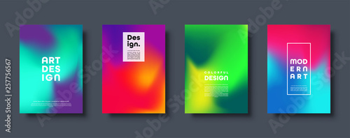 Foto Colorful modern abstract background with neon red, green, blue, purple, yellow and pink gradient